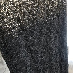 edda8811 MARINA Dresses | Nordstrom Gold Foil Ombre Maxi Dress Gown | Poshmark